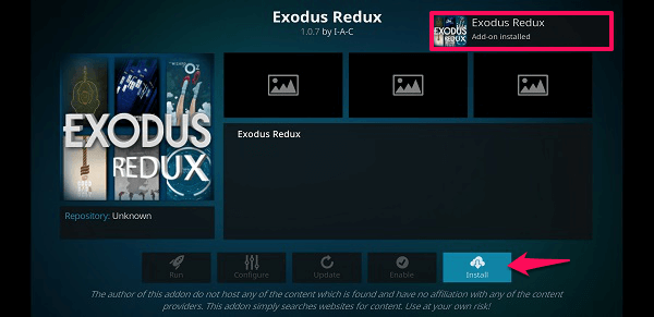 exodus addons and update