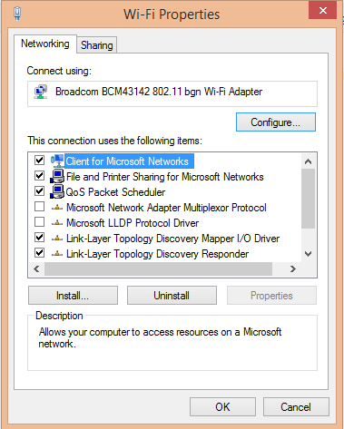 install or uninstall network adapter