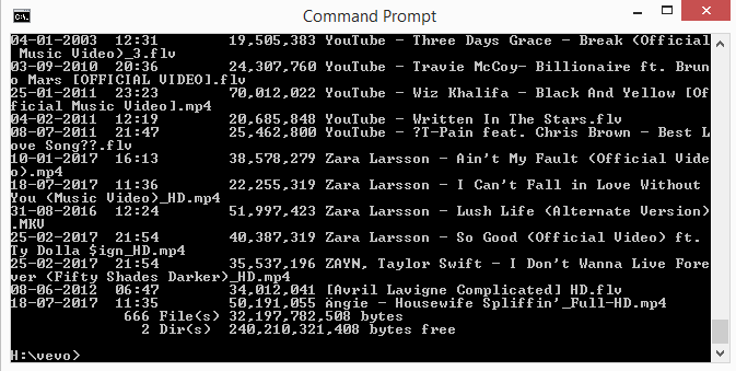 open a folder in command prompt