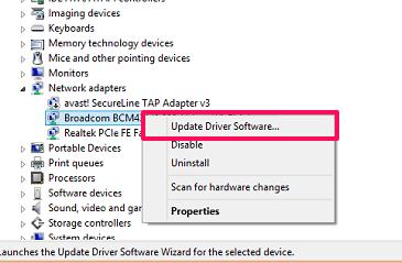 update network adapter