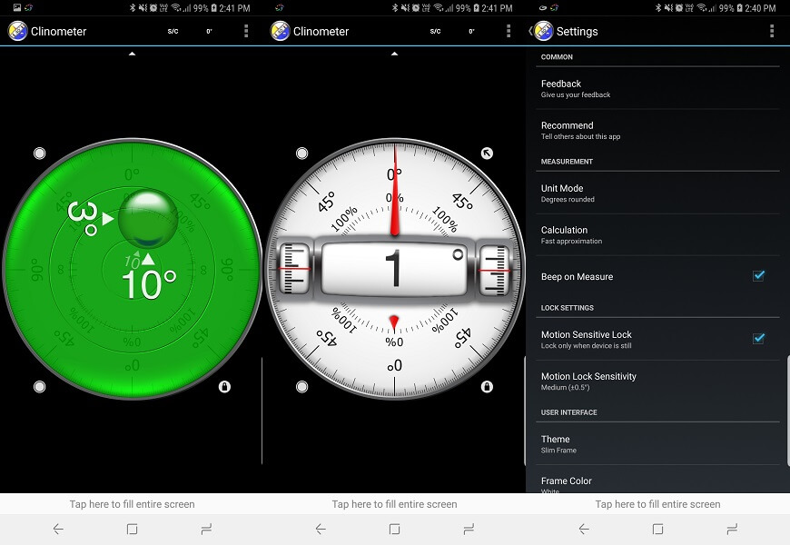 Clinometer + bubble level - Best Inclinometer Apps