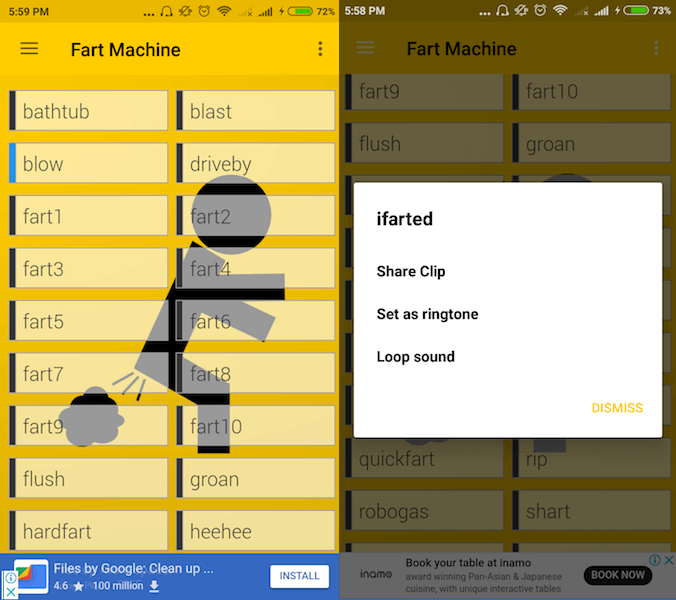 Fart Machine app