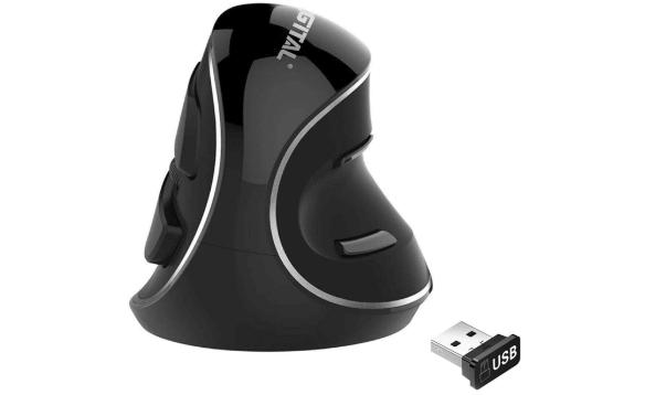 J-Tech Digital Wireless Vertical Ergonomic Optical Mouse