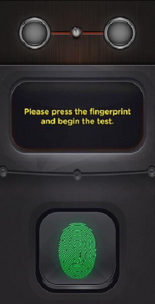 Start lie detection test