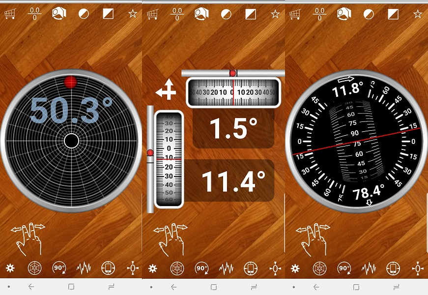 Multi Clinometer app