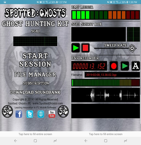 SGk1 - Ghost Hunting Kit app
