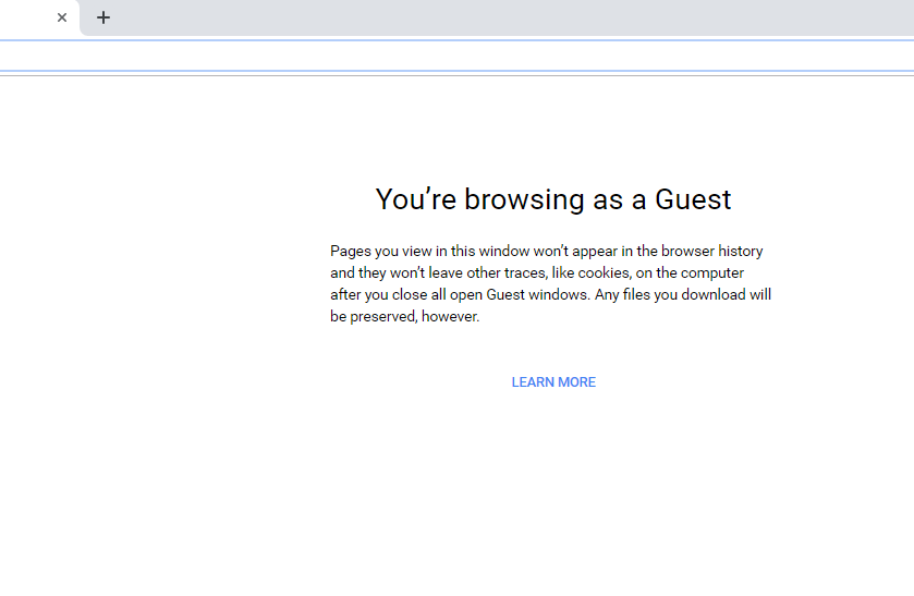 Enable Guest Browsing Chrome