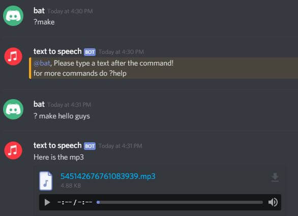 Text to speech discord bot