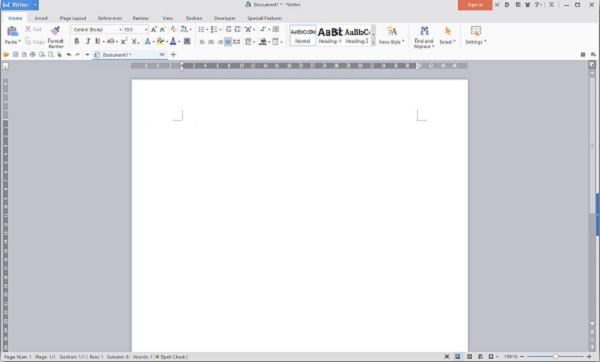 LibreOffice Alternatives - WPS Office Interface