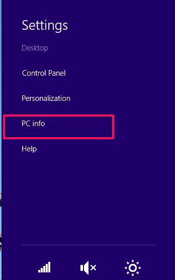 Windows 8.1 PC info