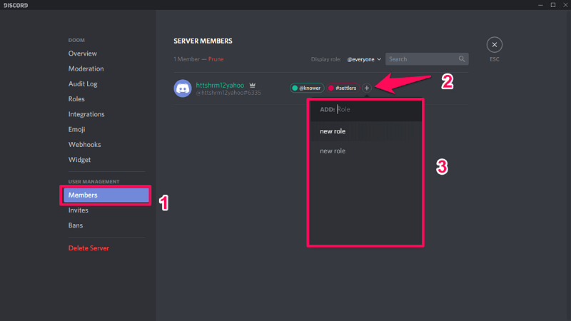 Methods To Add Roles To Discord And Assign Them To Members