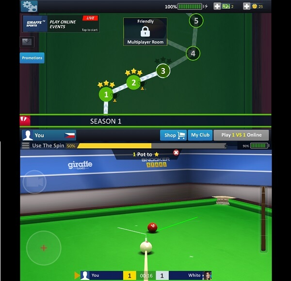 best snooker game for android - Snooker stars