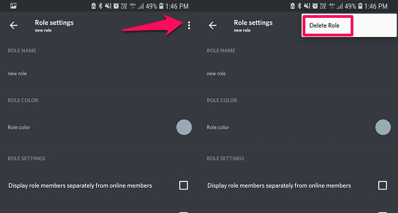 delete roles on discord mobile