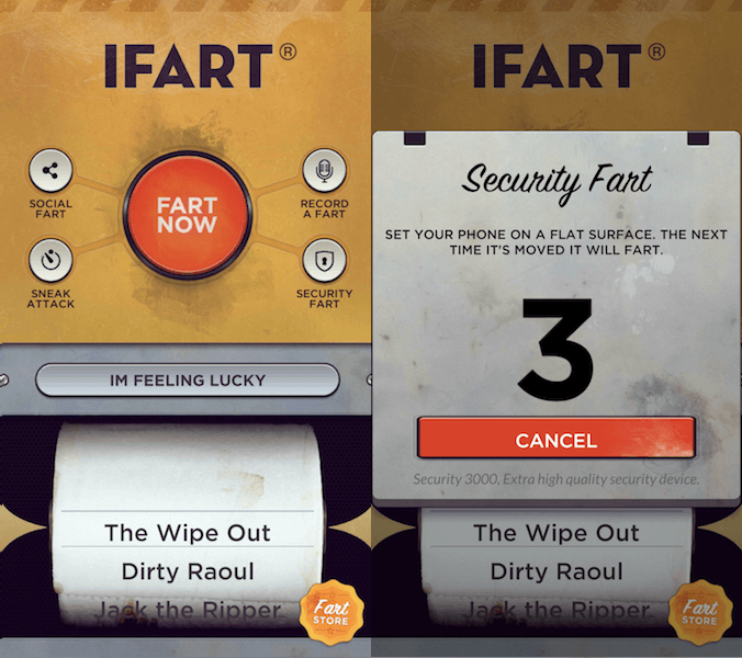 Fart sound apps - iFart
