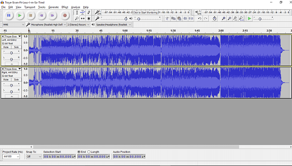 Vocals Removal Audacity