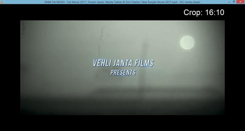 Crop video using VLC shortcut
