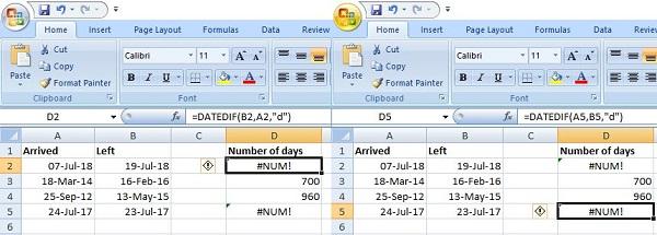 #NUM ERROR in Excel