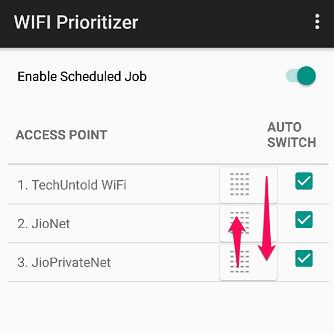 Wifi Prioritizer on Android