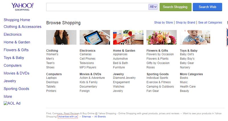 Yahoo shopping - price comparison engine