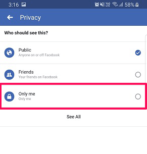 hide your relationship status