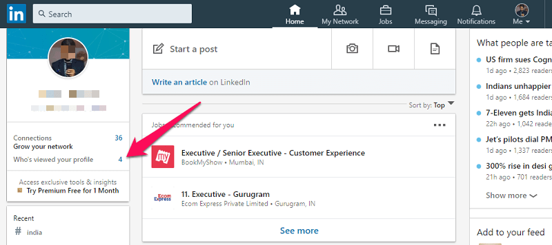 how to know who viewed your profile on LinkedIn
