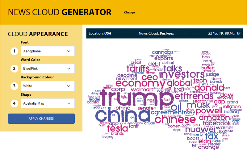 tricklar - news cloud generator