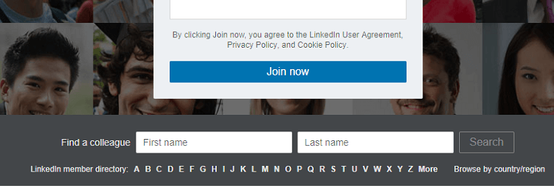 view LinkedIn profiles without signing in or having an account