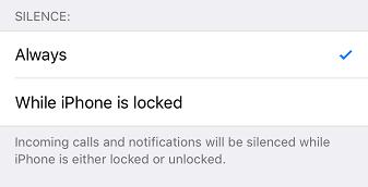 DND on iOS devices - Silence