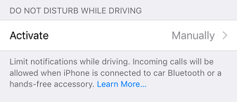 Do not disturb while driving - iOS
