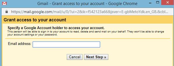 Grant access to your Gmail account