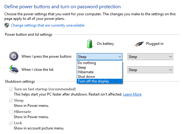 Turn off Laptop Display