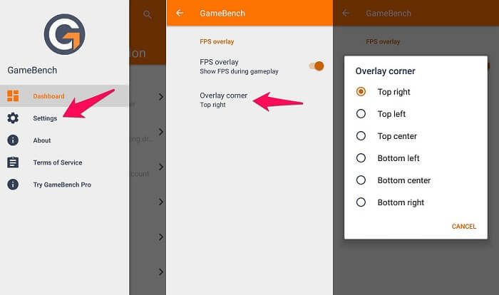 FPS Counter for Android - Change overlay position