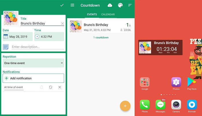best day counter apps for Android -bCountdown Days App&Widget