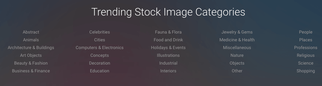 Focused Collection Image Categories