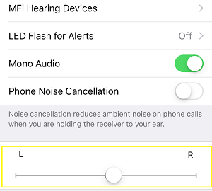 Adjust headphones left right sound balance