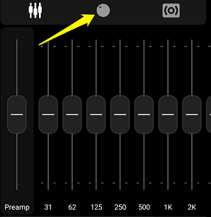 Poweramp adjust setting