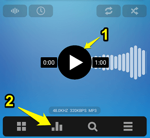 Poweramp play option