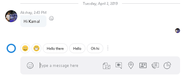 Skype Quick Reply