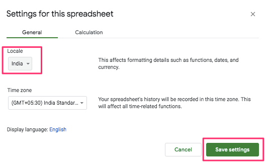 Write in a different language in Google Sheets