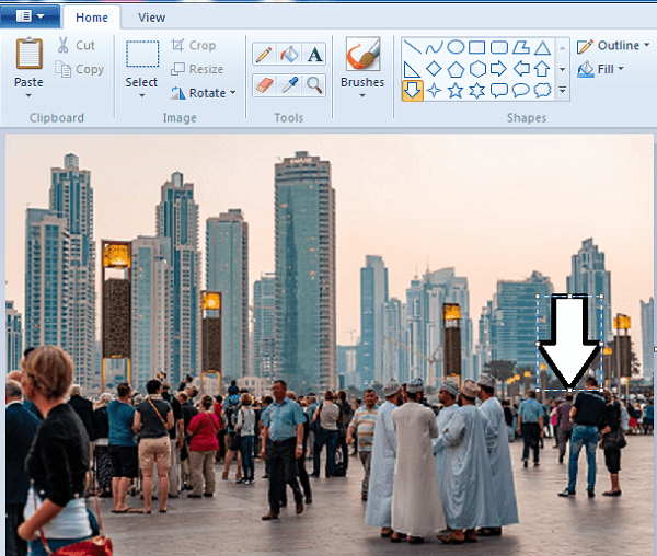 add arrows to pictures on Windows