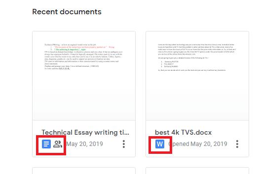 Google docs vs Word