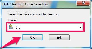 selecting C drive