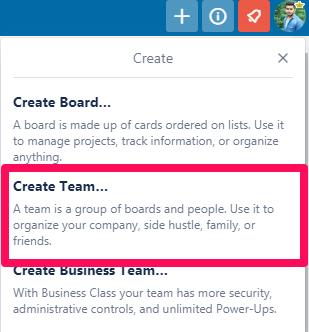 Click on Create Team