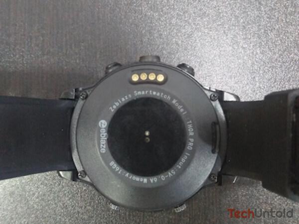 Zeblaze thor pro 3 design on the back