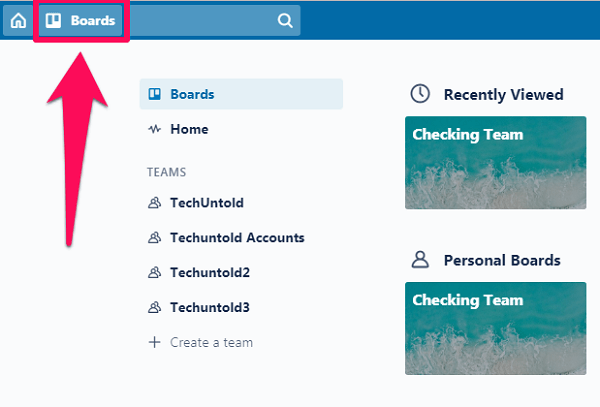 clicking on boards