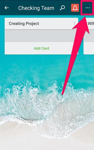 clicking on menu icon