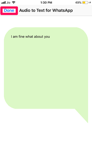 WhatsApp audio to text