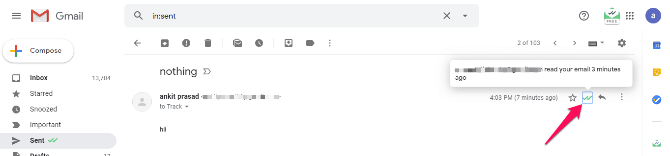 See when Email is read in Gmail