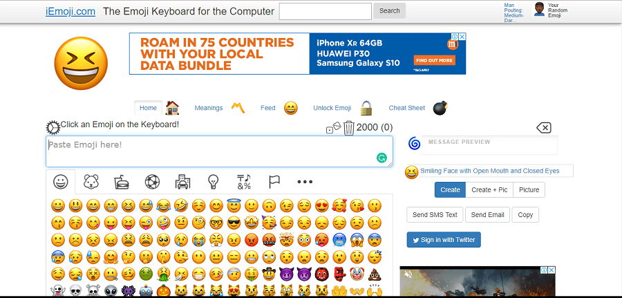 Emoji website