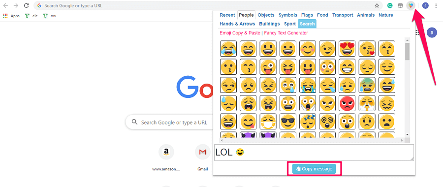 Emojis for chrome